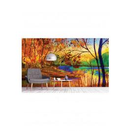InSmile ® Tapeta Podzimní malba Vel. (šířka x výška): 144 x 105 cm