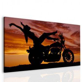 Sexy žena na motorce (160x90 cm) - InSmile ®