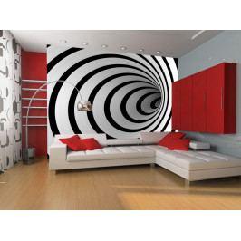 *Černobílý tunel (200x154 cm) - Murando DeLuxe