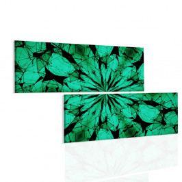 Obraz zelené paprsky mandaly (200x110 cm) - InSmile ®