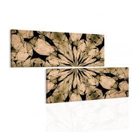 Obraz zlaté paprsky mandaly (200x110 cm) - InSmile ®
