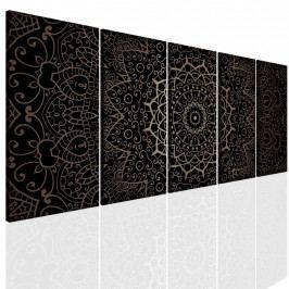 Obraz mandala z bronzu (150x70 cm) - InSmile ®