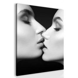 Obraz polibek ženy (60x90 cm) - InSmile ®
