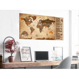 Stírací mapa vintage (100x50 cm) - Murando DeLuxe