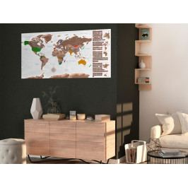 Stírací mapa světa - bílá (100x50 cm) - Murando DeLuxe