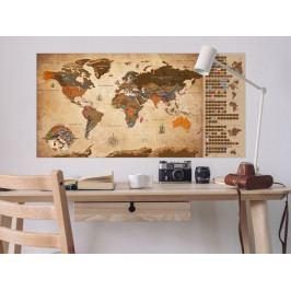 Stírací mapa světa vintage I (100x50 cm) - Murando DeLuxe