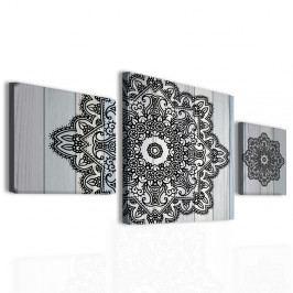 Obraz mandala na dřevě (150x80 cm) - InSmile ®