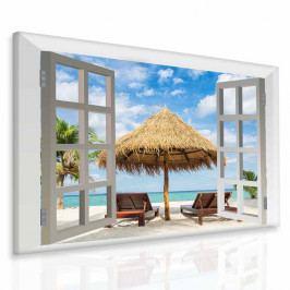 Obraz exotická pláž (50x40 cm) - InSmile ®