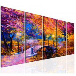 Most v barevné krajině III. (150x80 cm) - InSmile ®