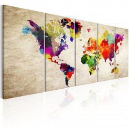 *Obrazy - mapa světa (200x80 cm) - Murando DeLuxe
