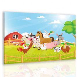 Obraz vítejte na farmě (90x60 cm) - InSmile ®