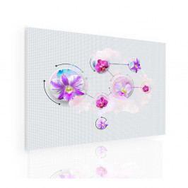 Obraz magické květy (90x60 cm) - InSmile ®