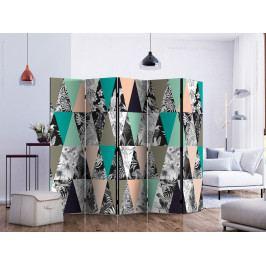 Paraván tropická mozaika (225x172 cm) - Murando DeLuxe