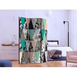 Paraván tropická mozaika I (135x172 cm) - Murando DeLuxe