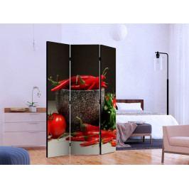 Paraván červená kuchyně I (135x172 cm) - Murando DeLuxe