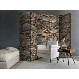 Paraván stará kamenná stěna (225x172 cm) - Murando DeLuxe