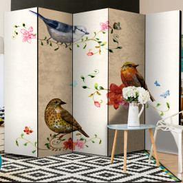 Paraván ptačí zpěv (225x172 cm) - Murando DeLuxe