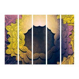 Paraván květinový límec - žlutý (225x172 cm) - Murando DeLuxe