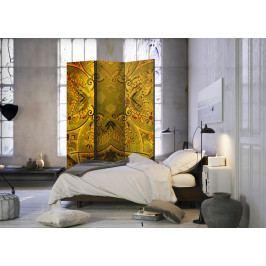 Paraván mandala zlatá síla I (135x172 cm) - Murando DeLuxe