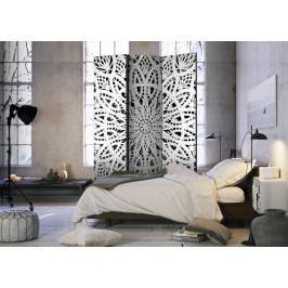 Paraván bílá mandala I (135x172 cm) - Murando DeLuxe