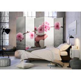 Paraván růžové květy (225x172 cm) - Murando DeLuxe