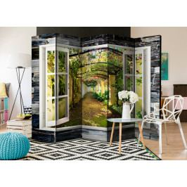 Paraván tajemná zahrada (225x172 cm) - Murando DeLuxe
