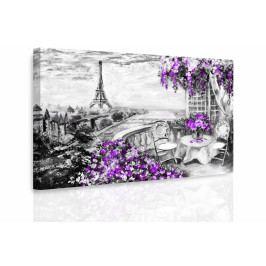 Obraz - Malovaná Paříž III. (90x60 cm) - InSmile ®