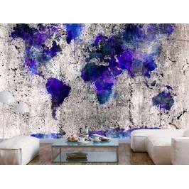 Tapeta mapa světa - skvrny (150x105 cm) - Murando DeLuxe