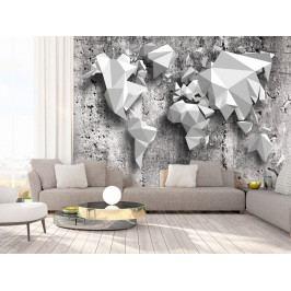 Tapeta mapa světa - origami (150x105 cm) - Murando DeLuxe