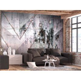 Tapeta geometrická stěna (150x105 cm) - Murando DeLuxe