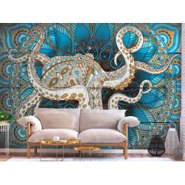 Tapeta mandala chobotnice (150x105 cm) - Murando DeLuxe