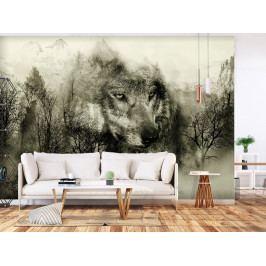Tapeta šelma z hor - béžová (150x105 cm) - Murando DeLuxe