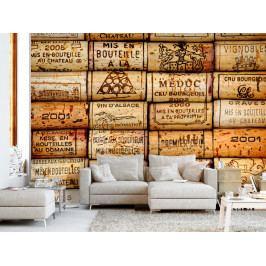 Tapeta cesta za vínem (150x105 cm) - Murando DeLuxe