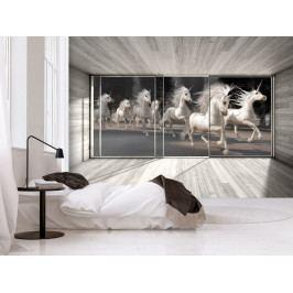 Tapeta běh jednorožců (150x105 cm) - Bimago