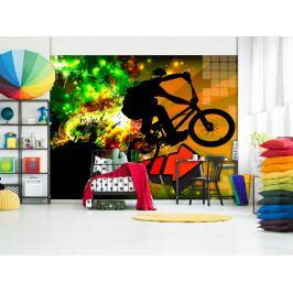 Tapeta extrémní bike (150x105 cm) - Murando DeLuxe