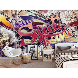 Tapeta Graffiti Home (200x140 cm) - Murando DeLuxe