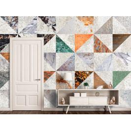 Tapeta betonové trojúhelníky (150x105 cm) - Murando DeLuxe