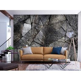 Tapeta kamenná dlažba - šedá (150x105 cm) - Murando DeLuxe
