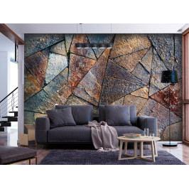 Tapeta kamenná dlažba - barevná (150x105 cm) - Murando DeLuxe