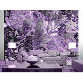 Tapeta perlové květy - fialová (150x105 cm) - Murando DeLuxe