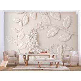 Tapeta Papírové květy (200x140 cm) - Murando DeLuxe