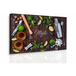Obraz - Ingredience do Mochita (90x60 cm) - InSmile ®