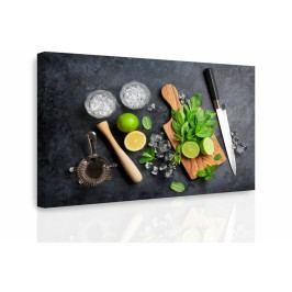 Obraz - Příprava Mochita (90x60 cm) - InSmile ®