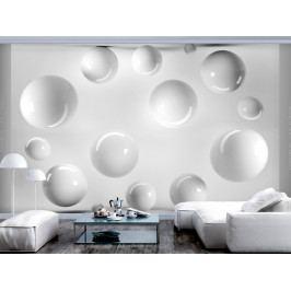 Tapeta bílé koule (150x105 cm) - Bimago