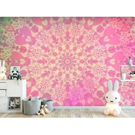 Dívčí mandala růžová (200x140 cm) - Murando DeLuxe