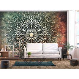 Mandala pampeliška - zelená (150x105 cm) - Murando DeLuxe