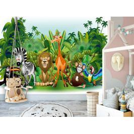 Dětská tapeta Džungle (200x140 cm) - Murando DeLuxe