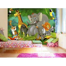 *Dětská tapeta Safari (200x140 cm) - Murando DeLuxe