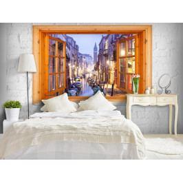 *Tapeta okno do Benátek (200x140 cm) - Murando DeLuxe