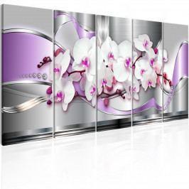 Vícedílné obrazy - fialová silnice (150x60 cm) - Murando DeLuxe